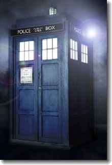 The TARDIS: Doctor Who's time-travelling transport of choice.