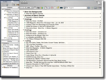 Eno Research Contents Page